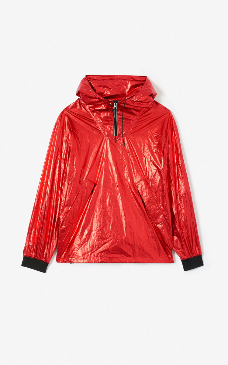 VERMILLION KENZO logo shiny windstopper for men
