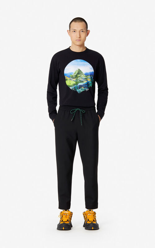 BLACK Tapered trousers for women KENZO