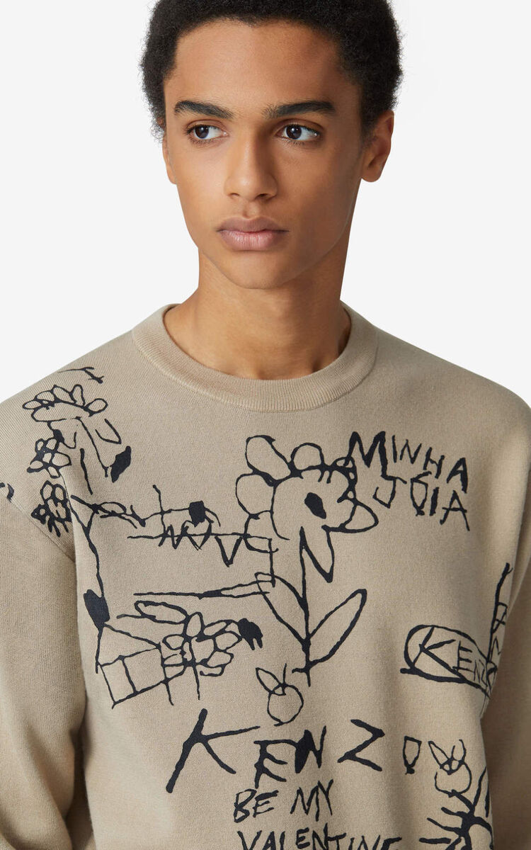 CAMEL Valentine's Day Capsule 'Valentine's flowers' jumper for women KENZO