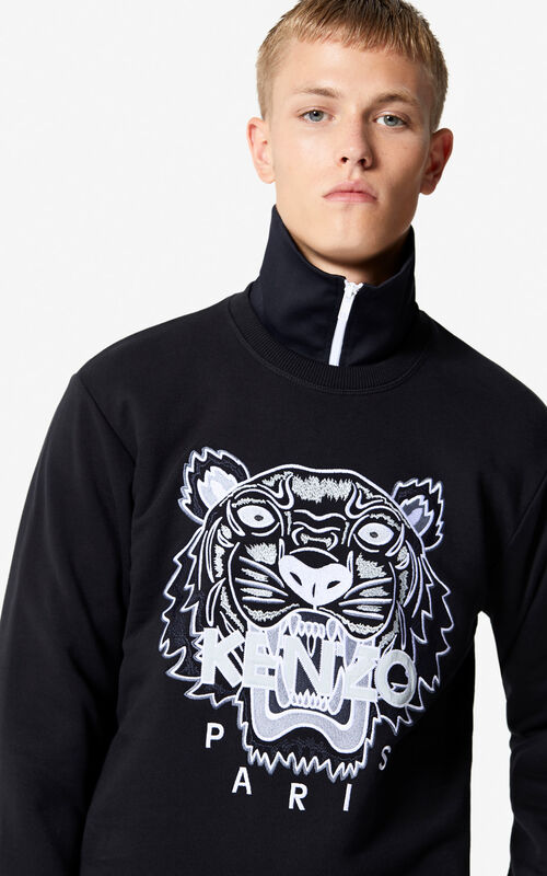 b7c3a426013 BLACK Tiger sweatshirt for men KENZO ...