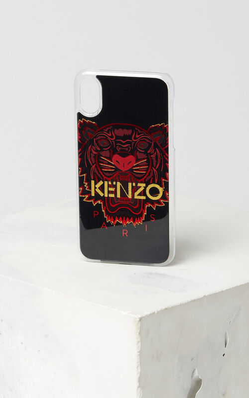 BLACK 'Chinese New Year Capsule Collection' iPhone X Tiger Case for unisex KENZO