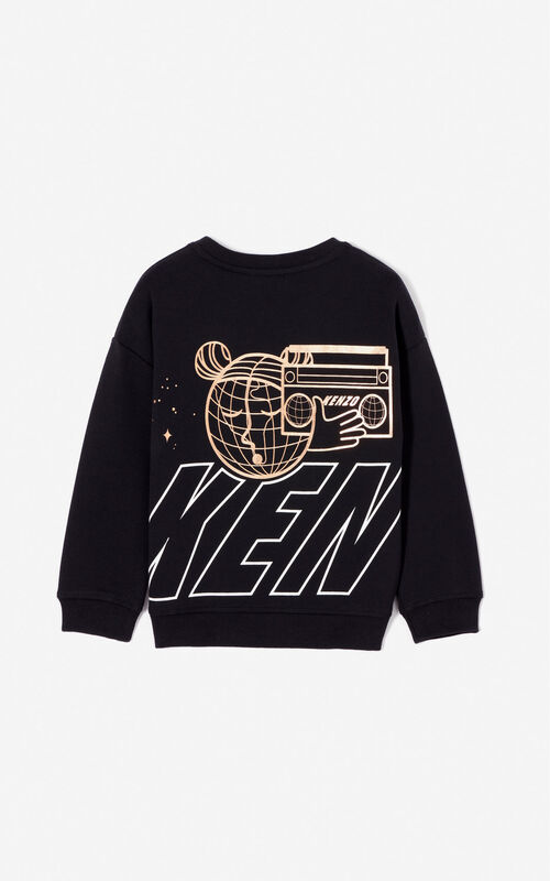 BLACK 'Cosmic' sweatshirt for women KENZO