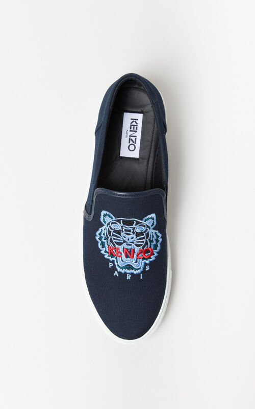 NAVY BLUE K-Skate Tiger slip-on for men KENZO