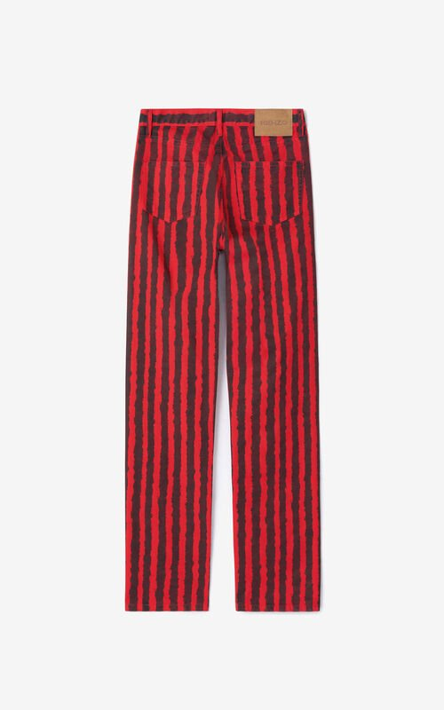 MEDIUM RED Striped jeans for unisex KENZO