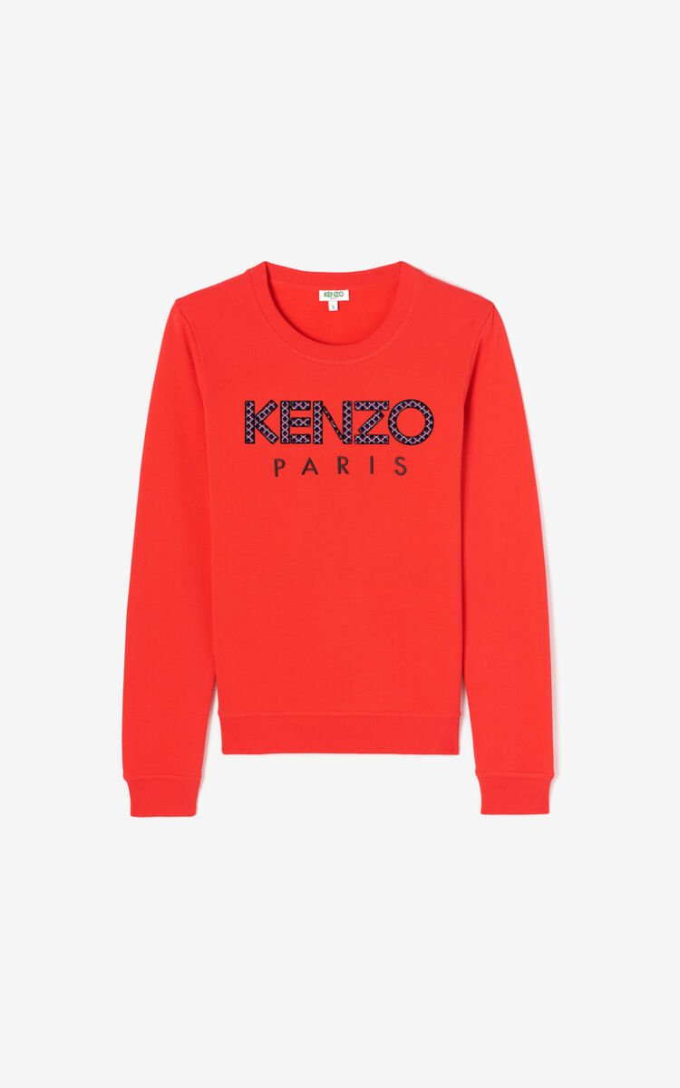 MEDIUM RED KENZO Paris 'Ikat' sweatshirt for women