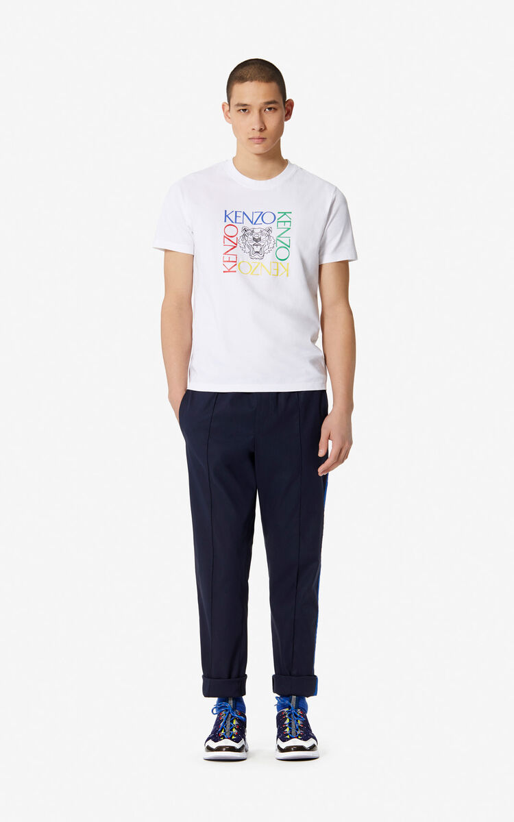 WHITE 'Tiger Square' t-shirt for men KENZO