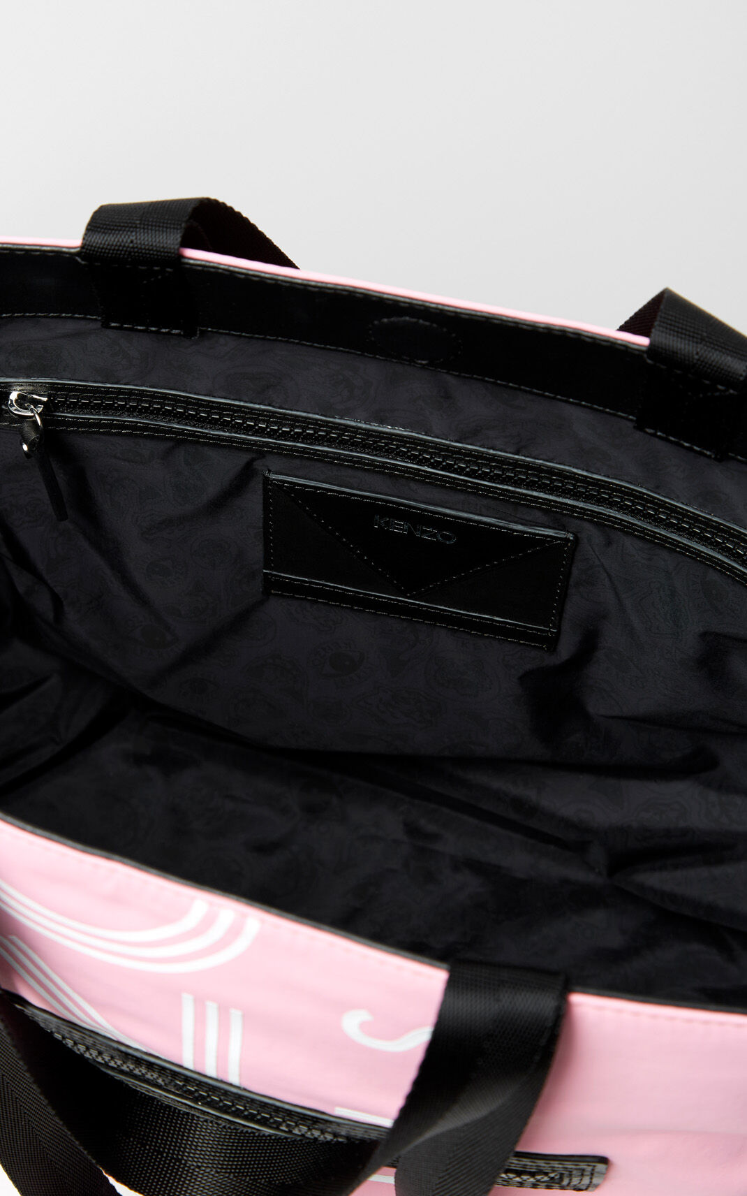 FLAMINGO PINK KENZO Logo Tote Bag for unisex