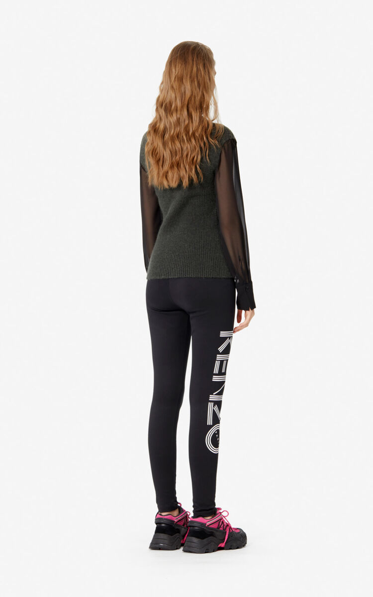 BLACK Kenzo Logo legging for women