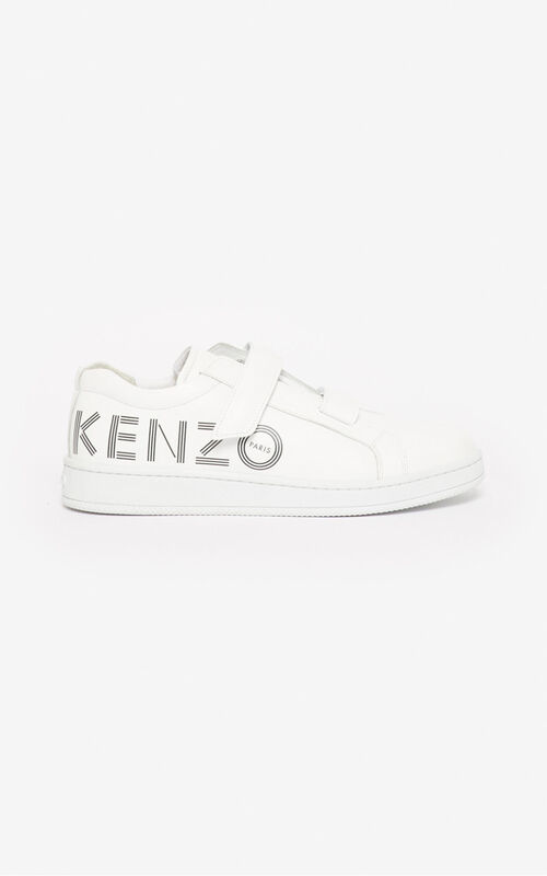 WHITE Tennix Velcro trainers for unisex KENZO