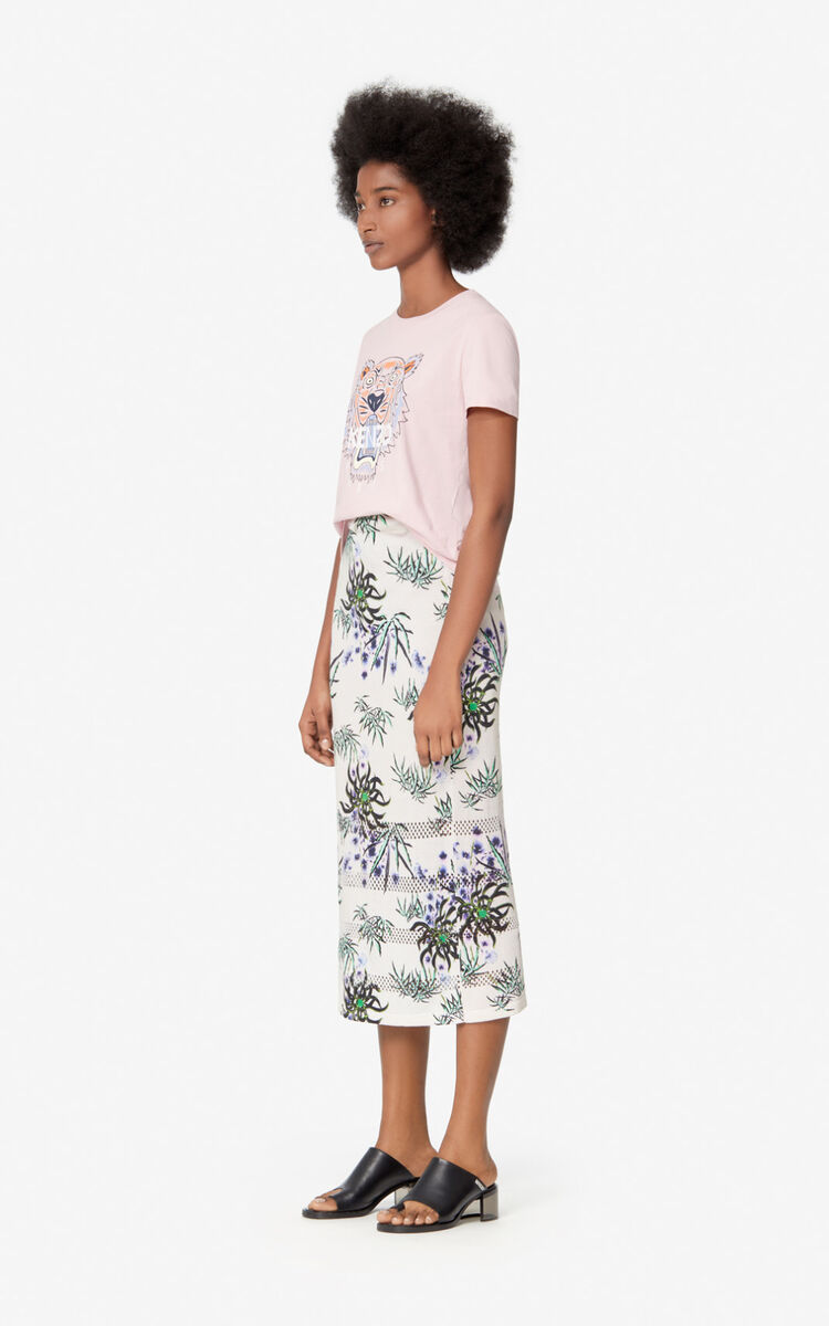 FADED PINK Tiger t-shirt for women KENZO