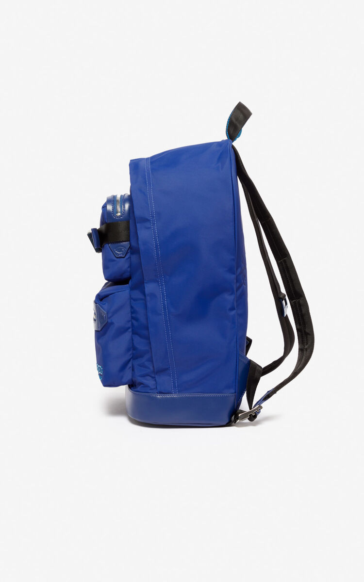 NAVY BLUE Large Link backpack for unisex KENZO