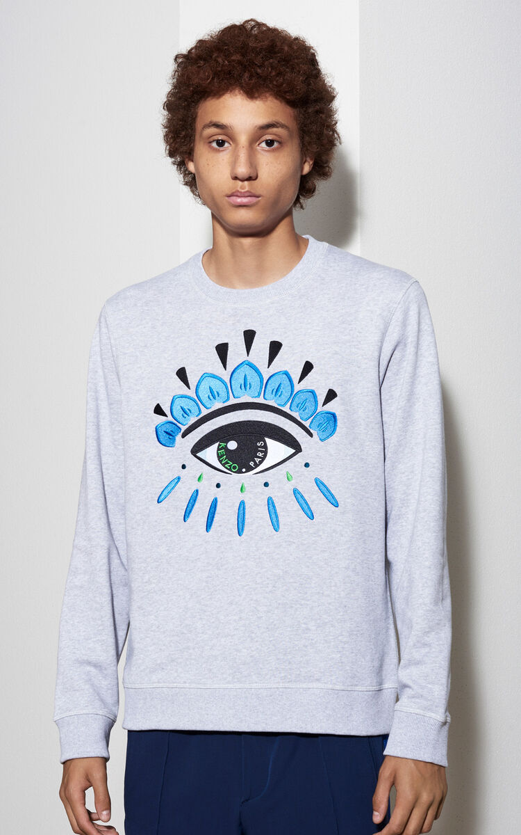 PALE GREY Eye Sweatshirt for men KENZO