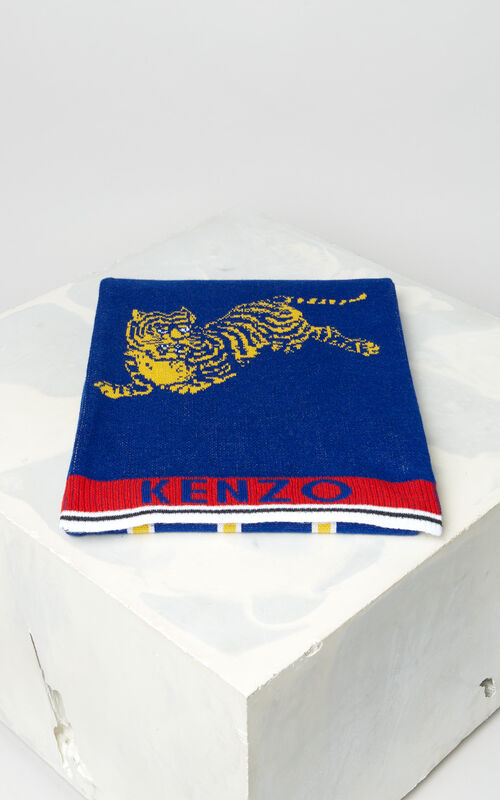 FRENCH BLUE 'Jumping Tiger' sporty scarf for unisex KENZO