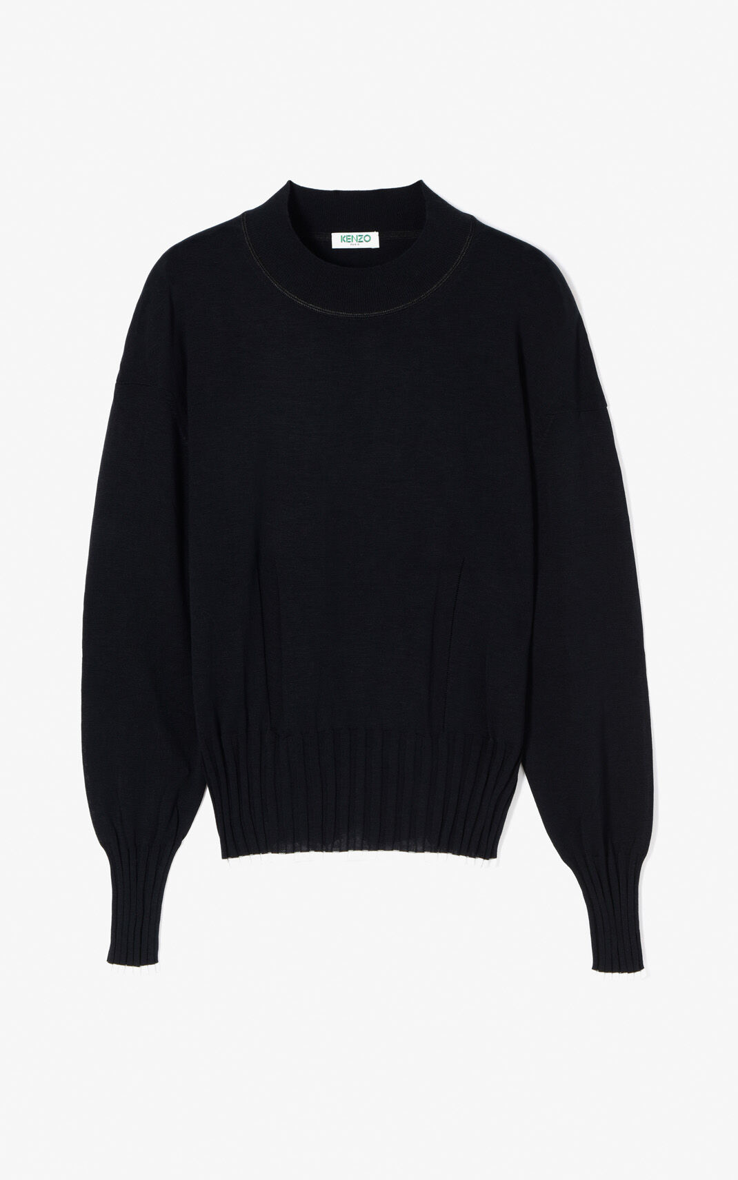 BLACK Knit silk jumper for women KENZO