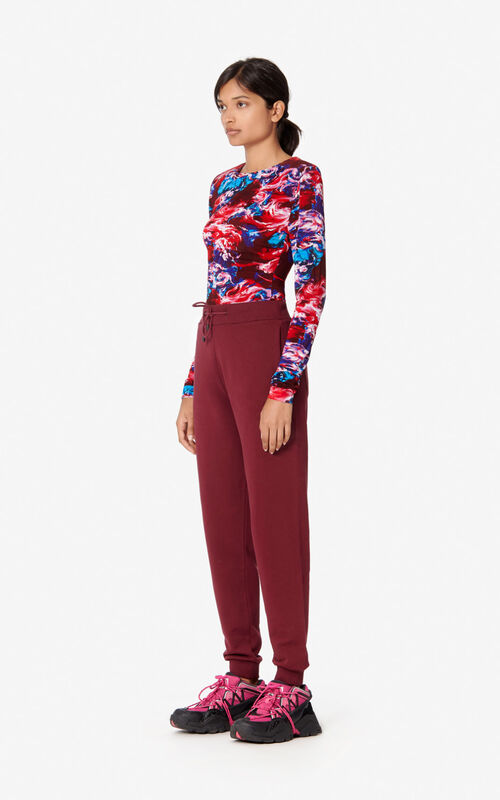 BORDEAUX KENZO Logo joggers for women
