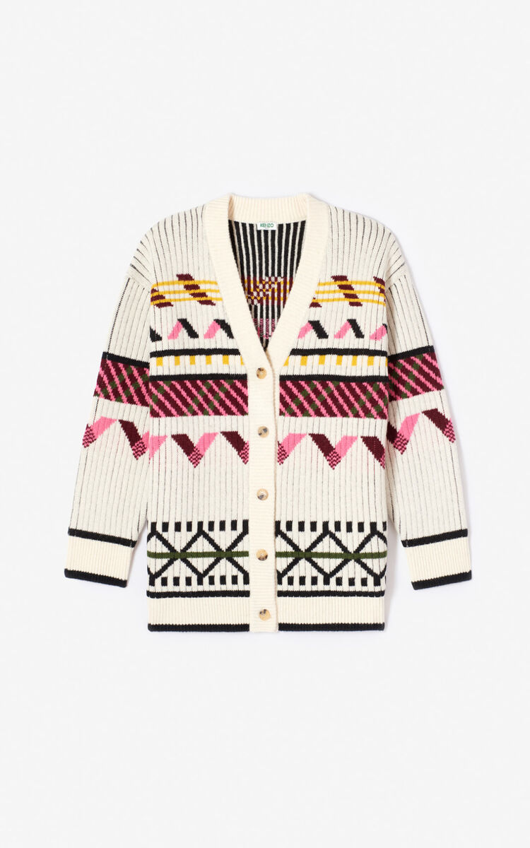 ECRU Chunky 'Capsule Expedition' cardigan for women KENZO