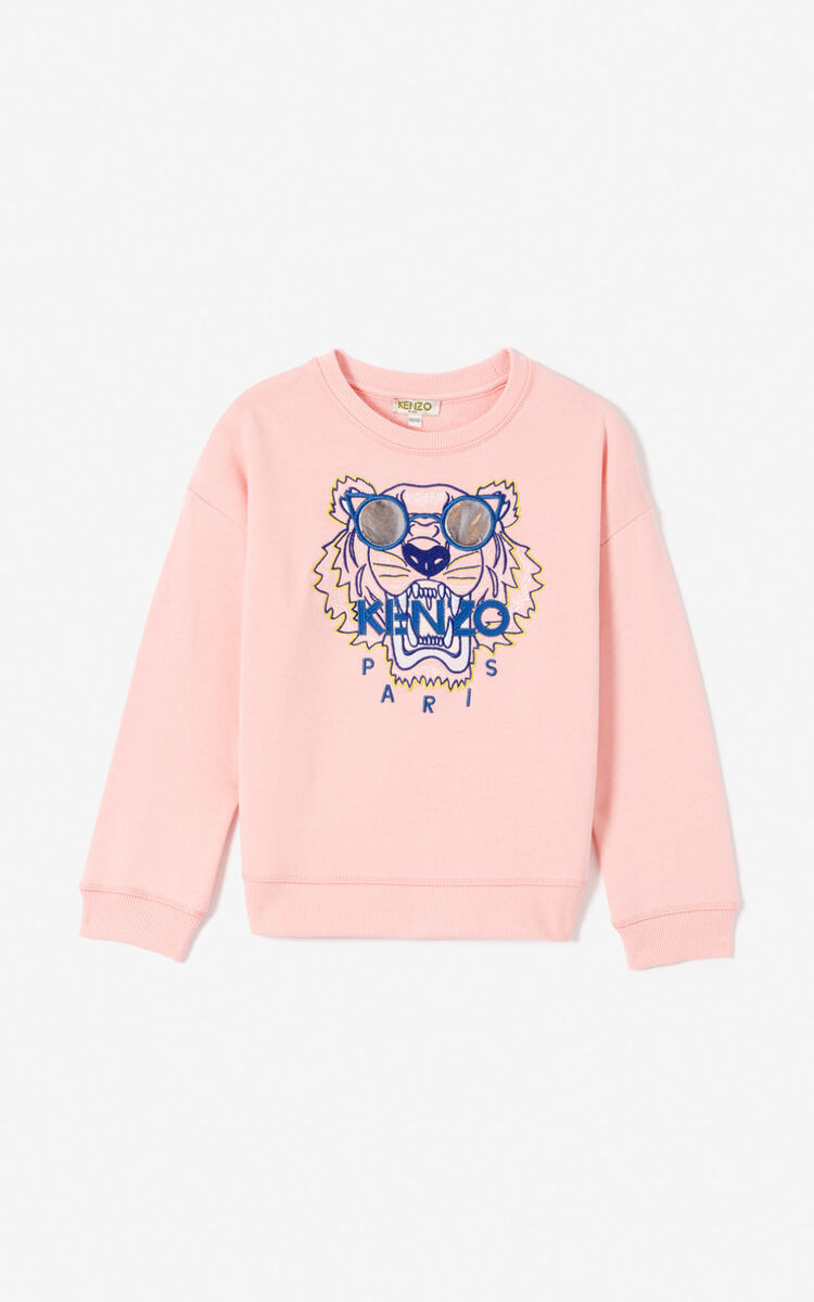 FLAMINGO PINK 'Wax' Tiger sweatshirt for men KENZO