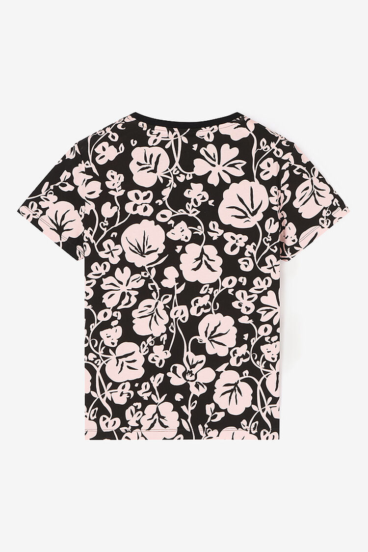 FADED PINK Floral Leaf' T-shirt for women KENZO