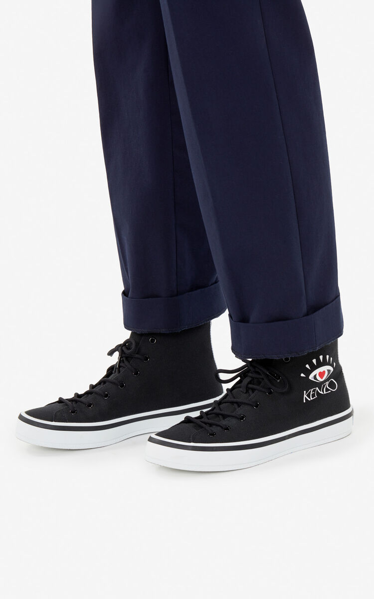 BLACK 'I ❤ KENZO Capsule' K-Street sneakers for men