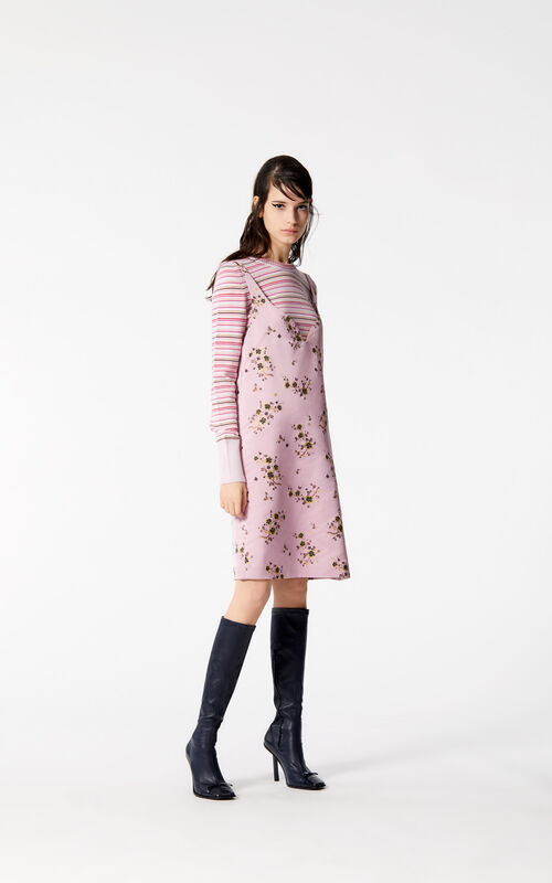 PASTEL PINK 'Cheongsam Flower' Dress for women KENZO