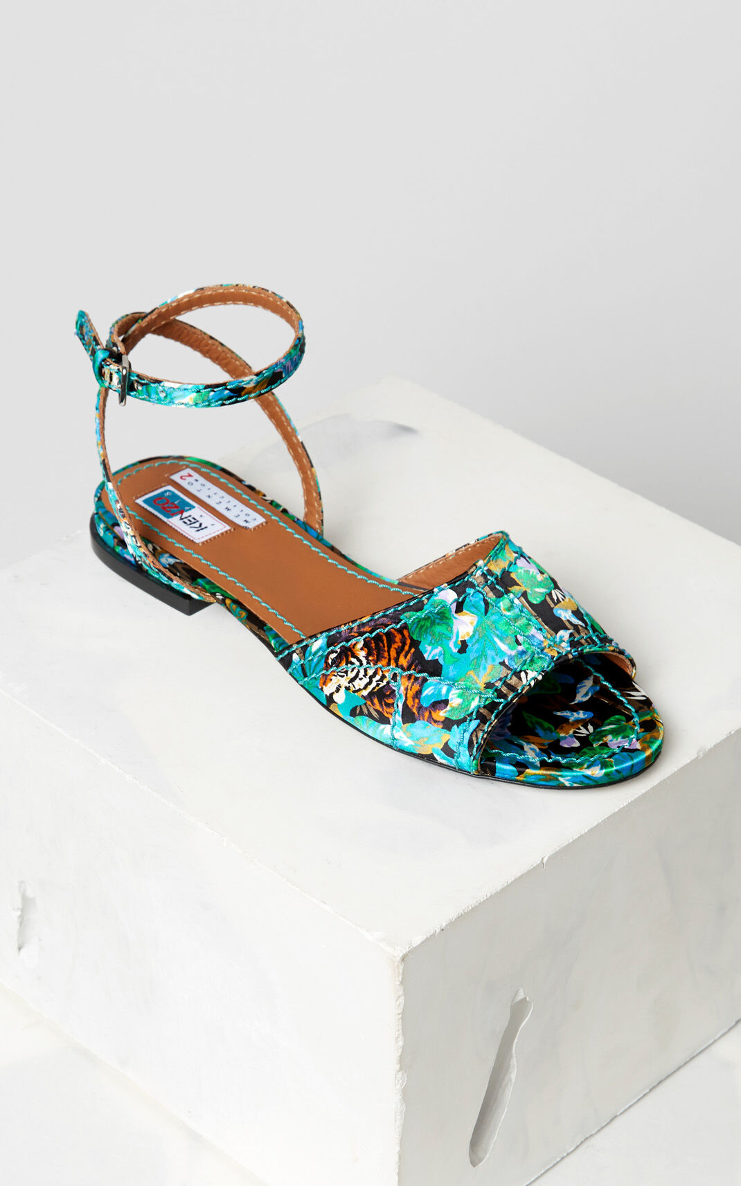 BLACK 'Bamboo Tiger' Daria flat sandals for women KENZO