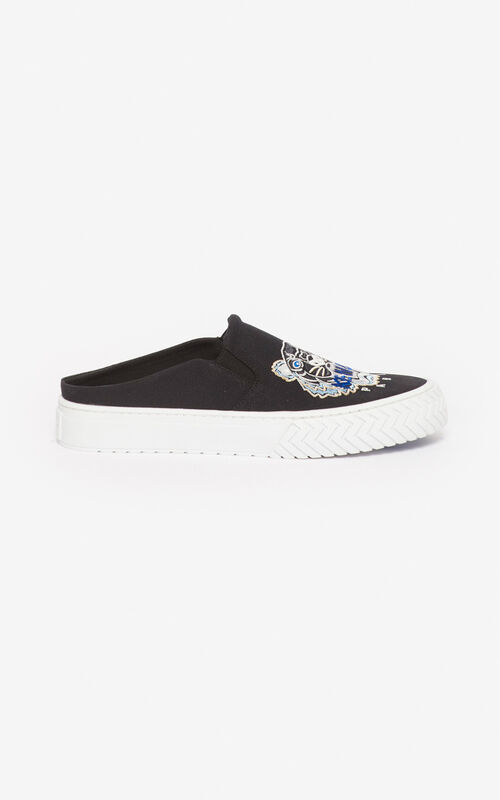 BLACK Tiger K-Skate slip-in mules  for unisex KENZO