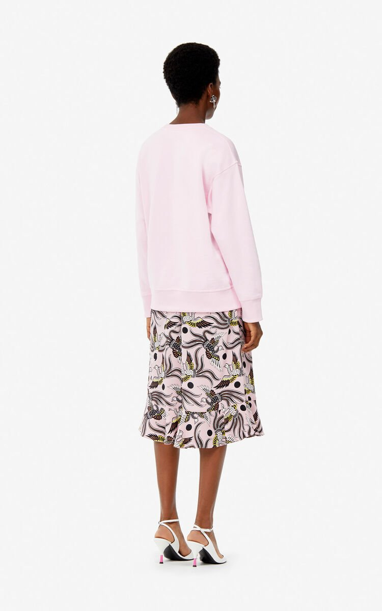PASTEL PINK 'Roses' sweatshirt for women KENZO