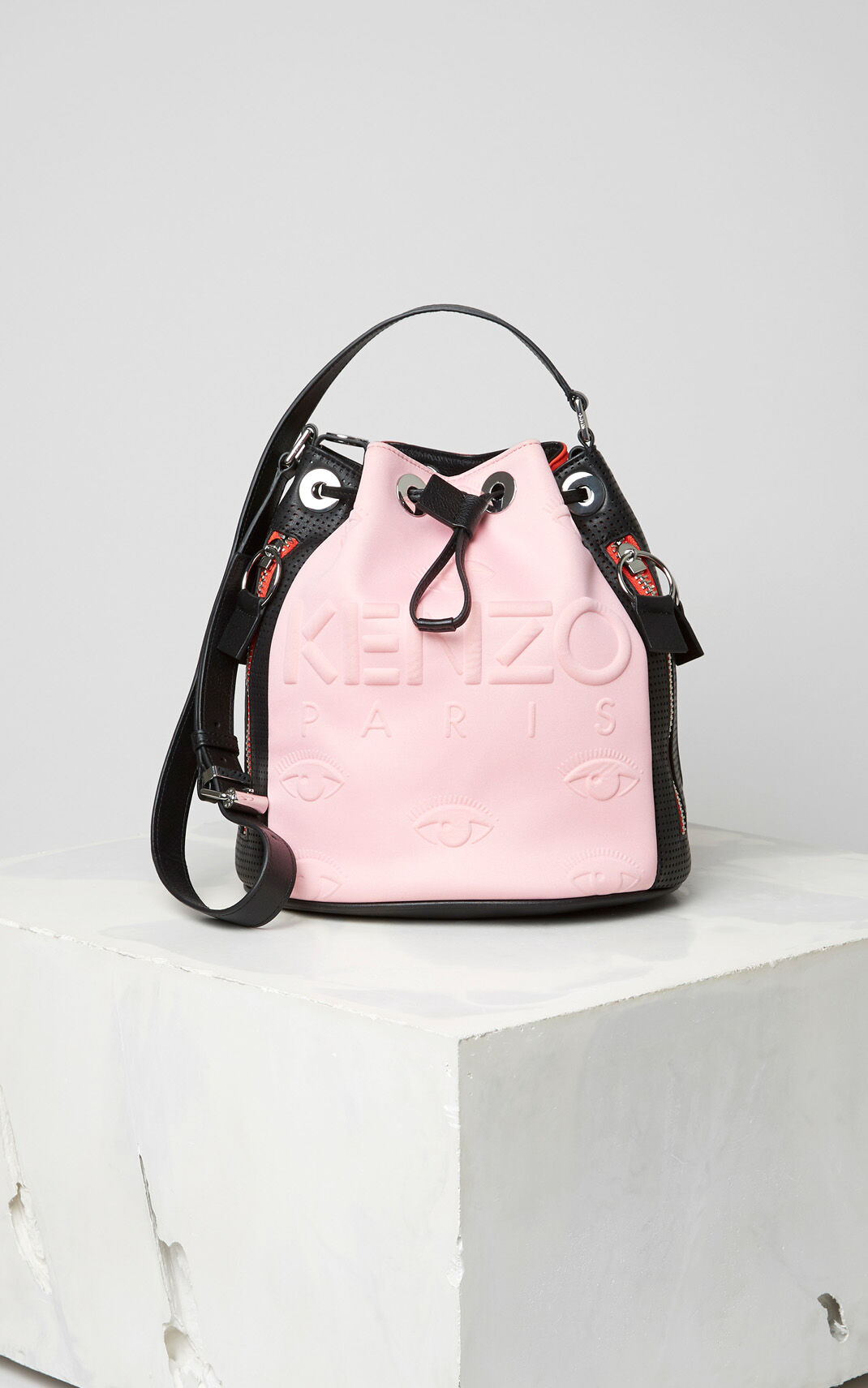 FLAMINGO PINK KENZO Kombo bucket bag for unisex