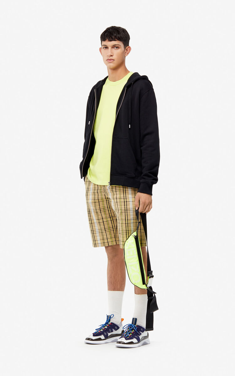 DARK BEIGE Checked shorts for men KENZO