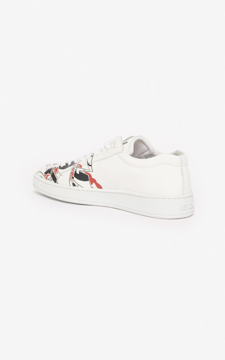 WHITE 'Chinese New Year Capsule' 'Kung Fu Rat' Tennix trainers for unisex KENZO