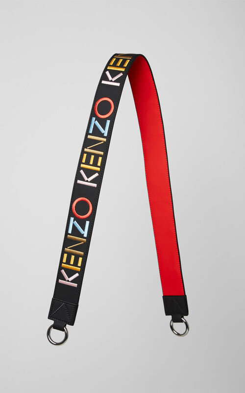 BLACK KENZO Logo shoulder strap for men