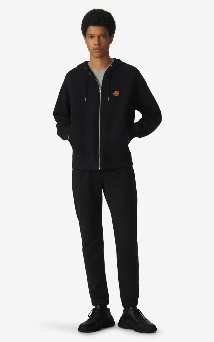 BLACK Tiger Crest jogging trousers for women KENZO
