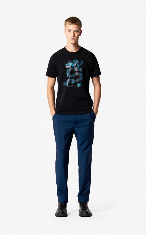 BLACK Dragon T-shirt 'Holiday Capsule' for men KENZO
