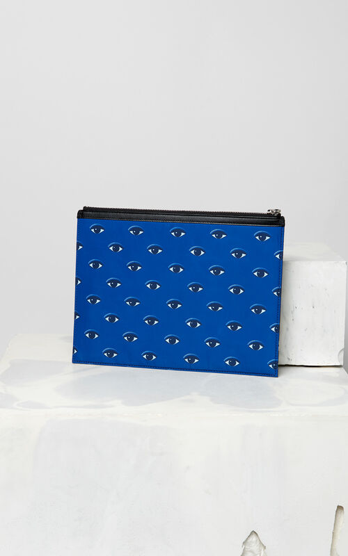 GRASS GREEN Flying Tiger Clutch for men KENZO