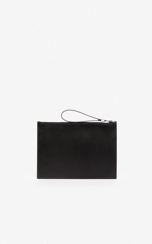 BLACK 'Holiday Capsule' A4 KENZO Kontrast clutch for unisex