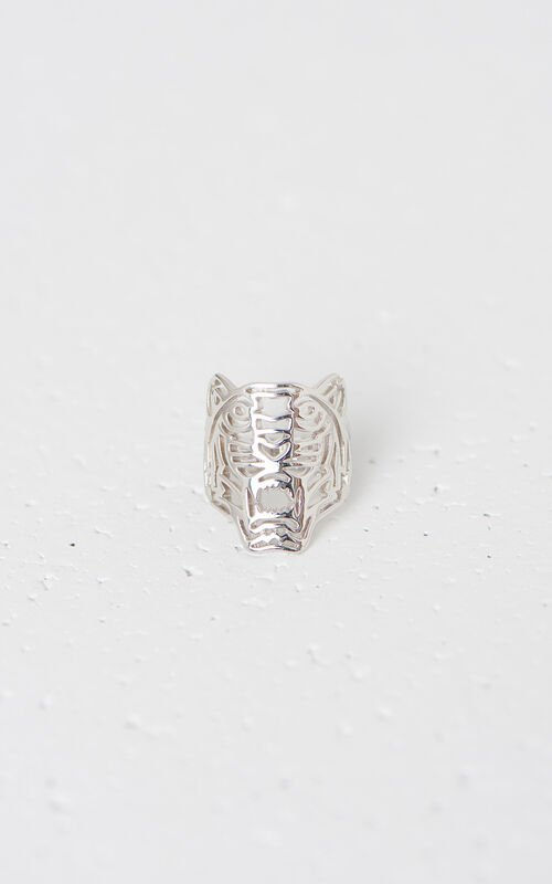 SILVER Medium Tiger ring for women KENZO