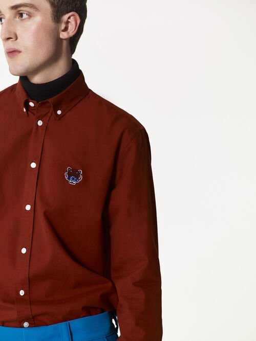 DEEP ORANGE Tiger Crest Shirt for men KENZO