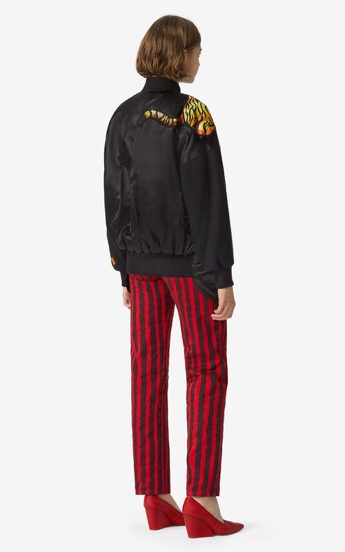 BLACK KENZO x KANSAIYAMAMOTO satin-effect bomber jacket for men