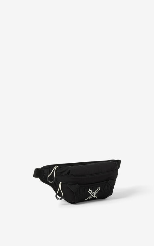 BLACK KENZO Sport small bumbag for unisex