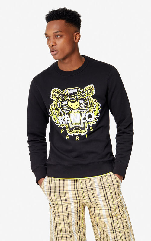 12831ec0 BLACK Tiger sweatshirt 'High Summer Capsule collection' for men KENZO ...