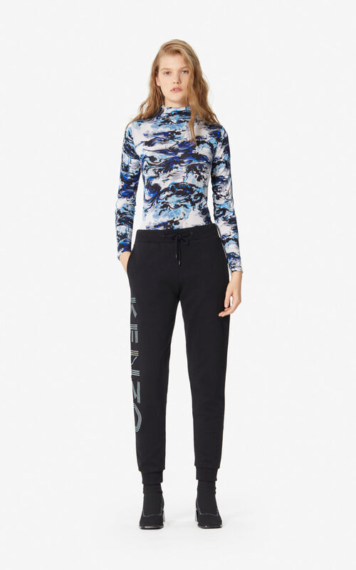 NAVY BLUE 'KENZO World' polo-neck top for women