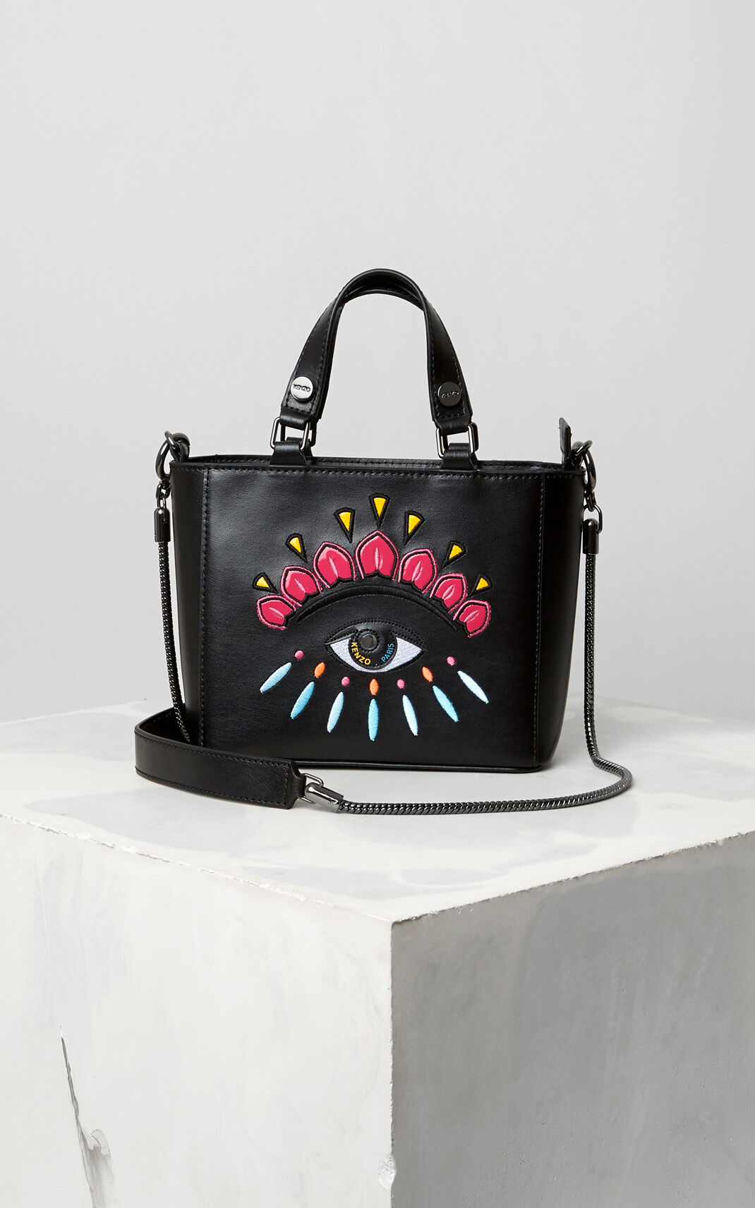 BLACK Small Eye Tote for unisex KENZO