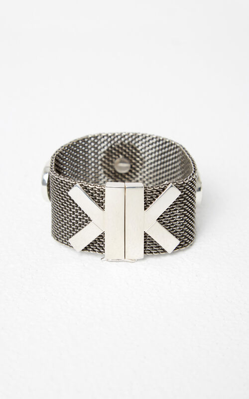 SILVER 'Double K' Bracelet for women KENZO