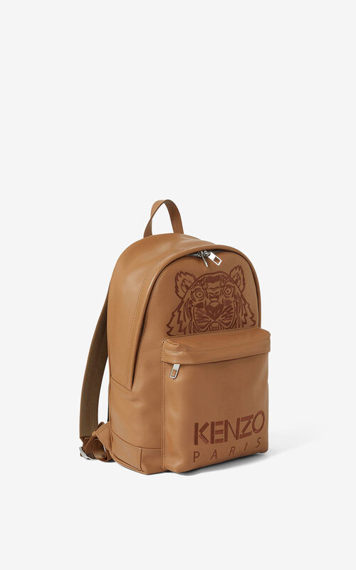 TABAC Kampus Tiger leather backpack for unisex KENZO