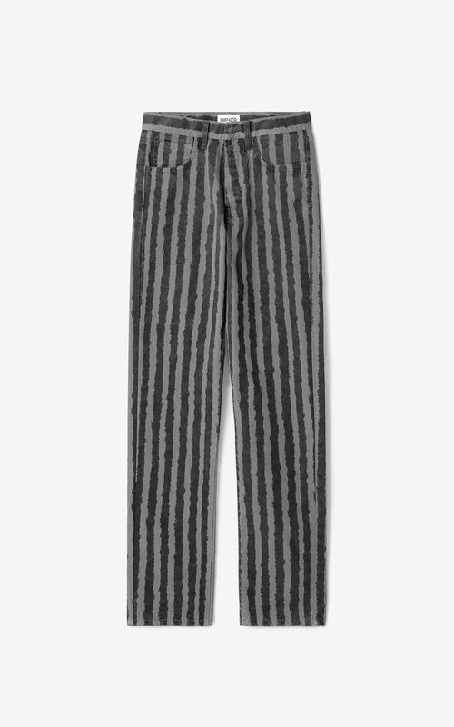ANTHRACITE Striped jeans for unisex KENZO