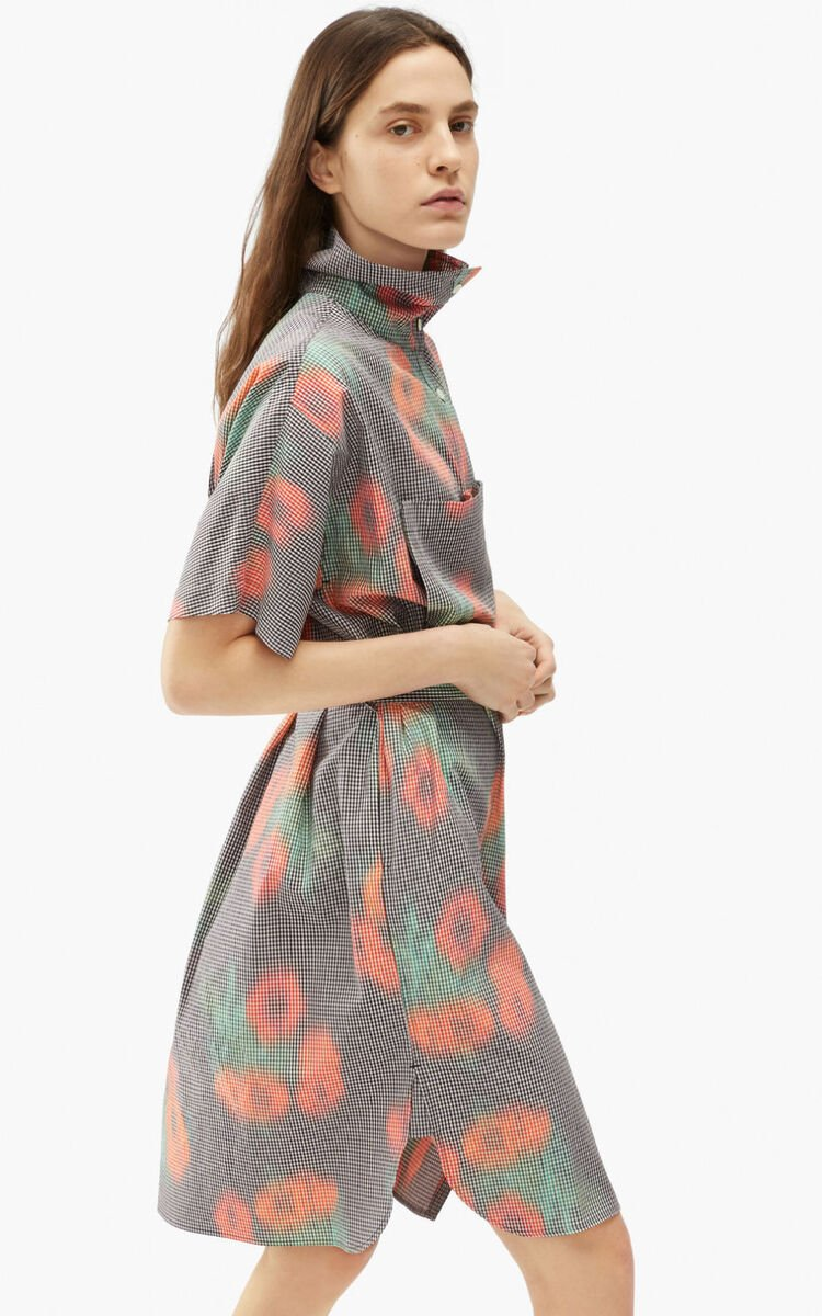 CHERRY Belted tunic dress 'Coquelicot' for women KENZO