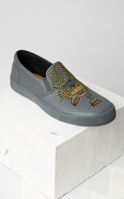 MIDDLE GREY K-Skate' sneaker x 'Géo Tiger' for unisex KENZO