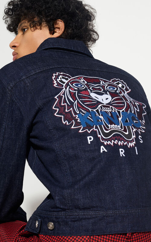 NAVY BLUE Tiger Denim Jacket for men KENZO