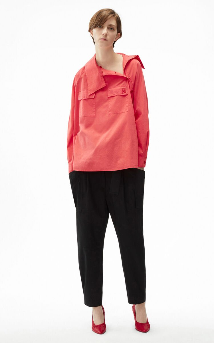 RED ORANGE Buttoned blouse for women KENZO