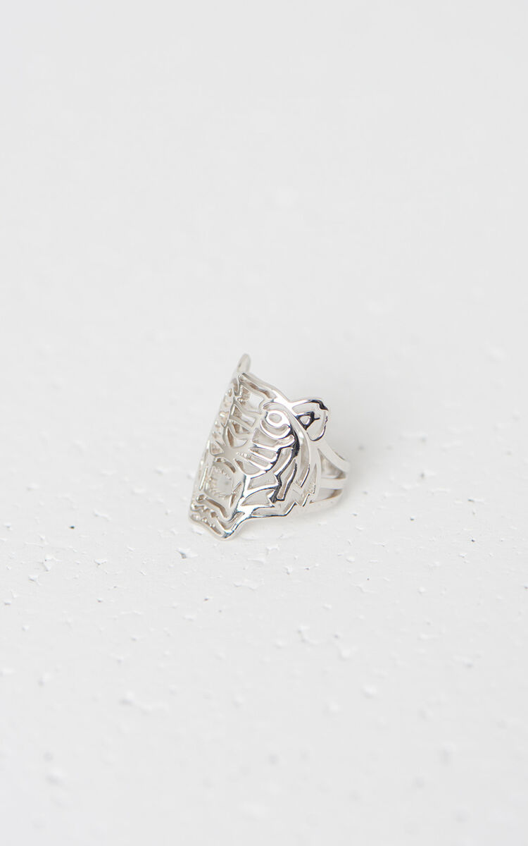 SILVER Medium Tiger Ring for global.none KENZO